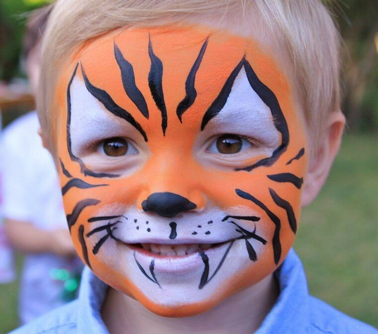 pintacaras infantil tigre
