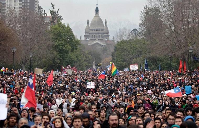 protestas en chile-estudiantes