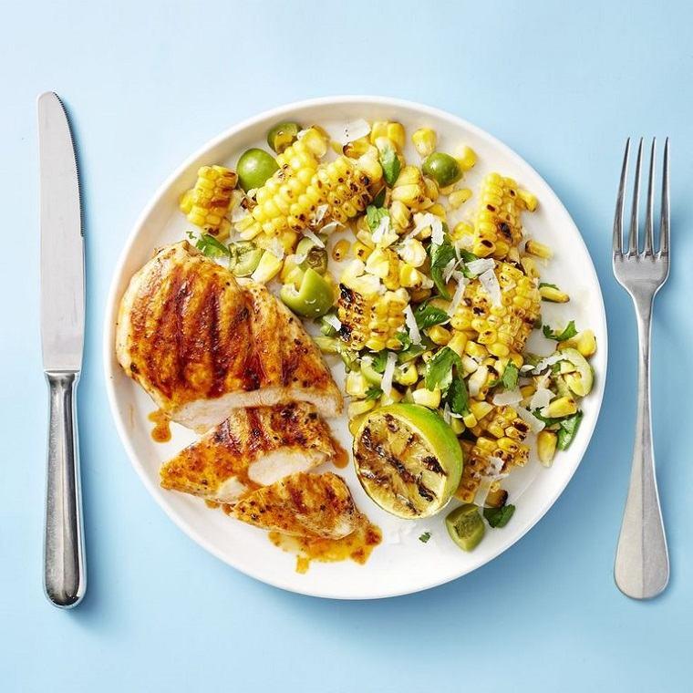 recetas de comidas-pollo-ahumado-maiz