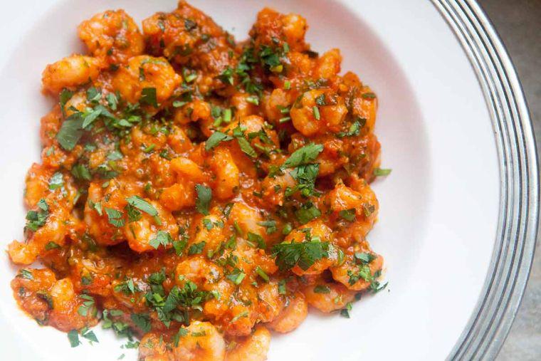 recetas para cena romantica camarones