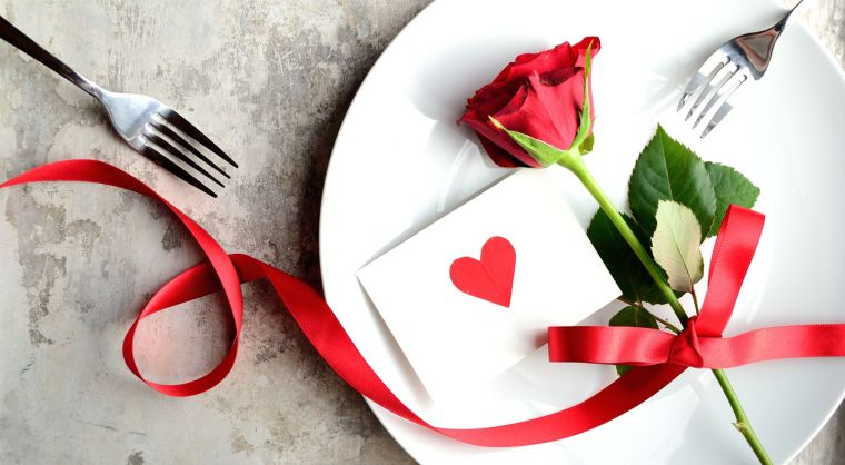 recetas para cena romántica rosa