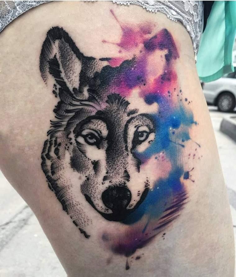 significado-de-tatuajes-de-lobos-diseno-acuerela