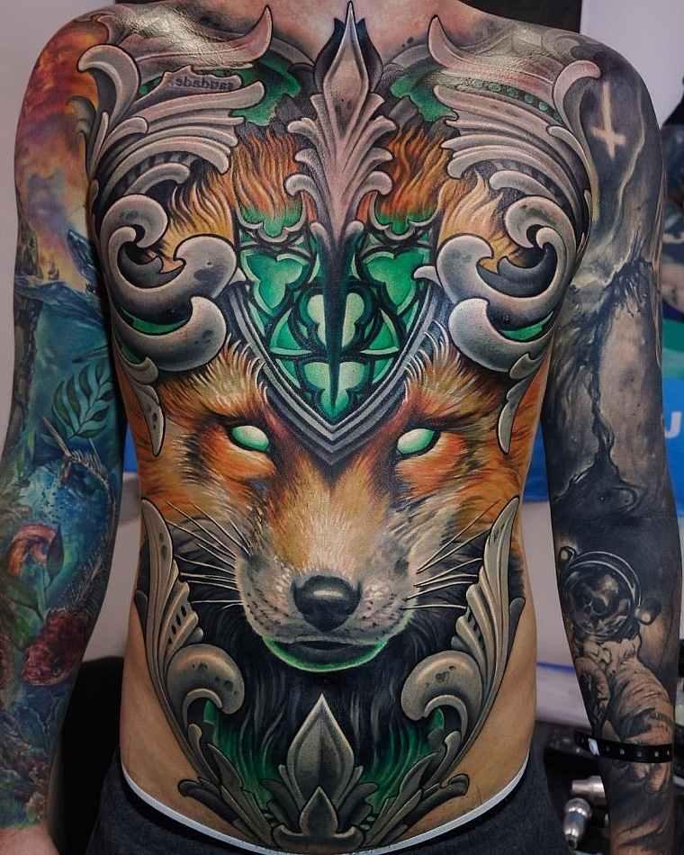 significado de tatuajes de lobos-grandes
