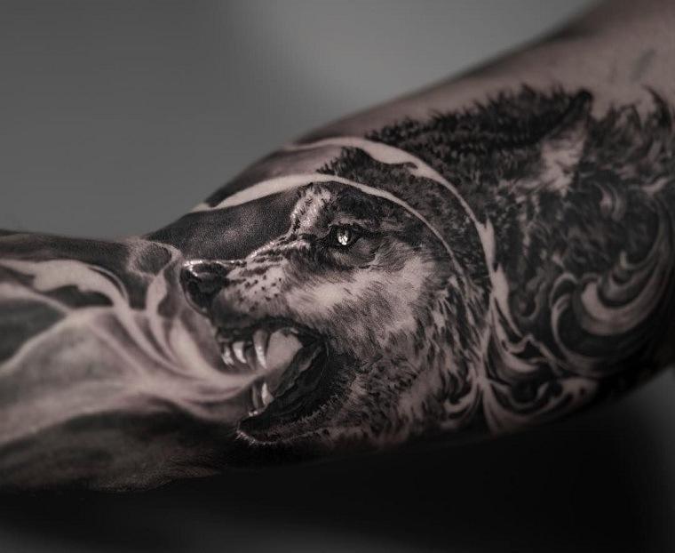 significado de tatuajes de lobos-hombre