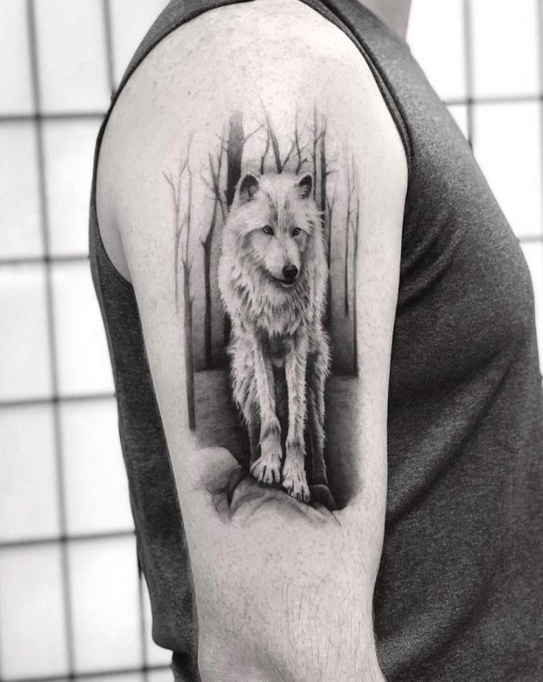 significado-de-tatuajes-de-lobos-hombro