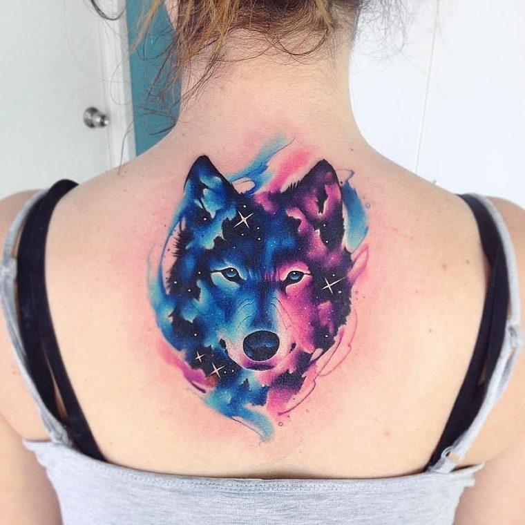 significado-de-tatuajes-de-lobos-ideas-acuarela