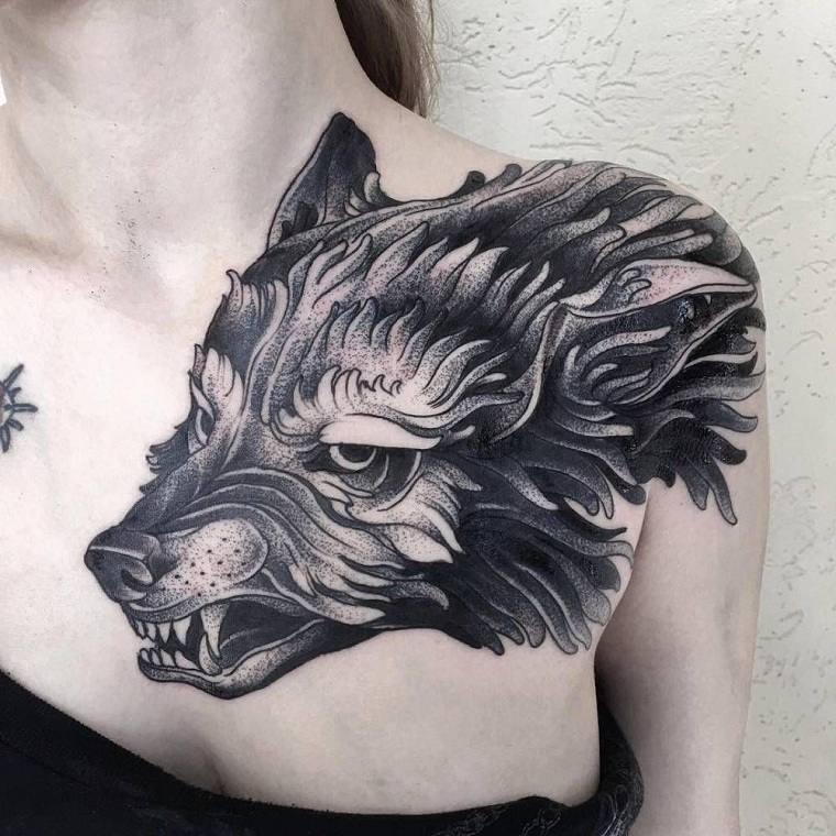 significado-de-tatuajes-de-lobos-mujer