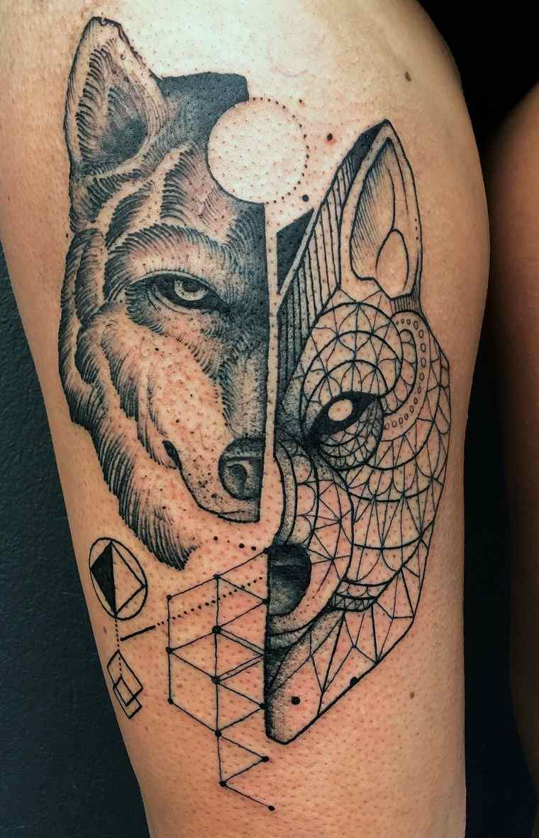 tattoo-lobo-cara-diseno-ideas