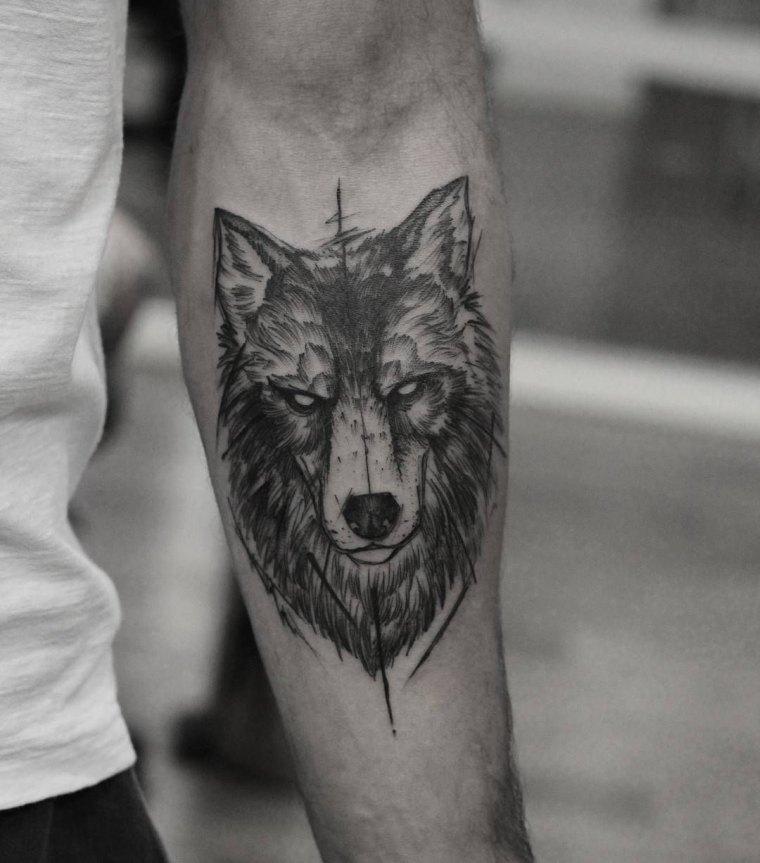 tatuaje-hombre-ideas-diseno-lobo