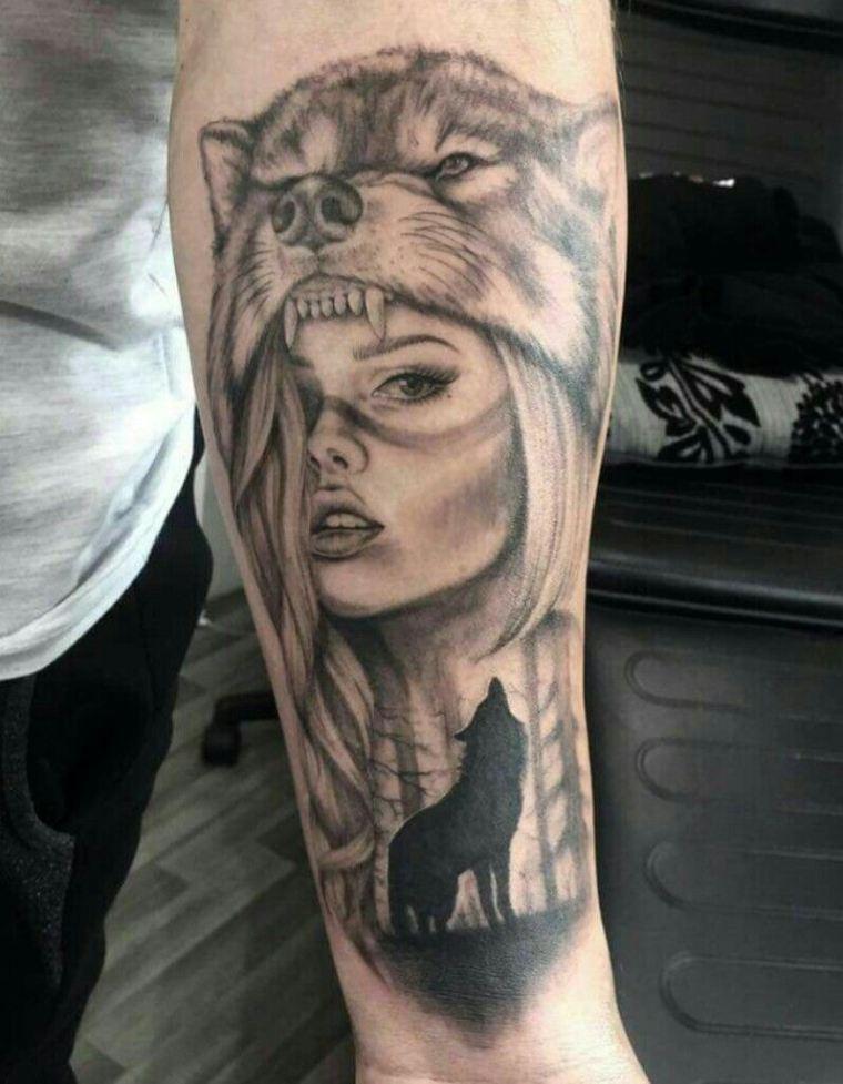 tatuaje-lobo-estilo-mujer