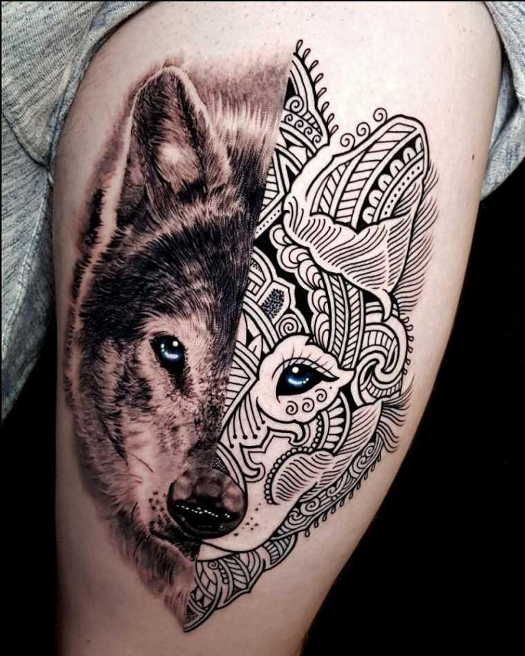 tatuaje-lobo-mandala-estilo