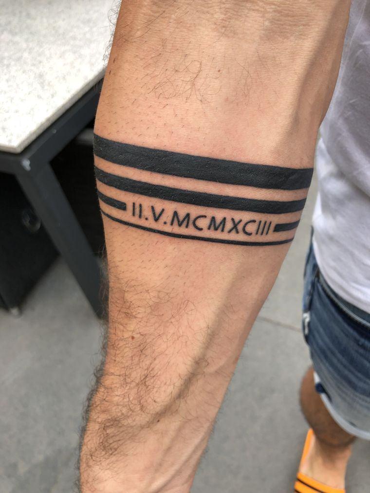 tatuajes de líneas brazo