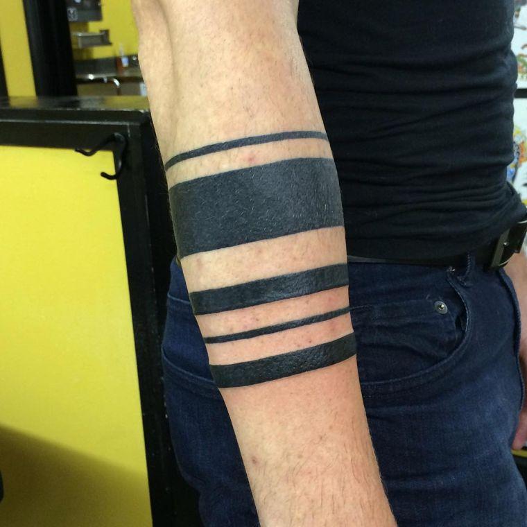 tatuajes de líneas multiple
