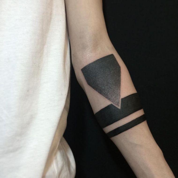 tatuajes de líneas punta