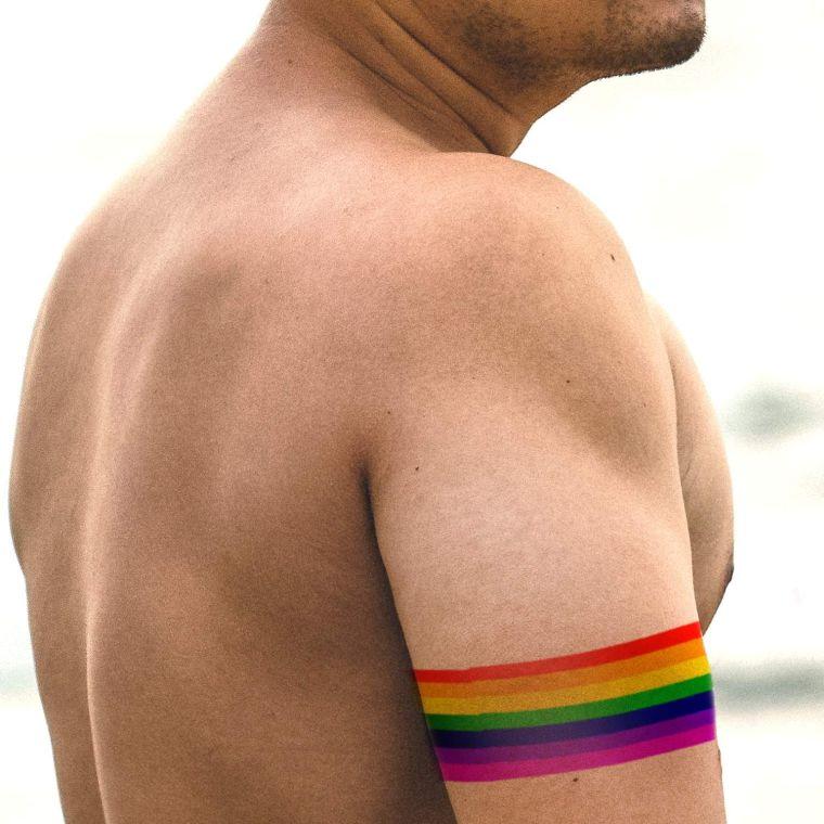 tatuajes de lineas colores