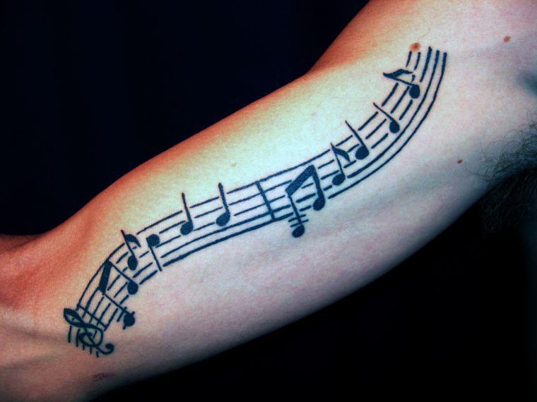 tatuajes de lineas musica