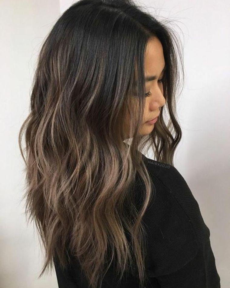 cabello largo mechas