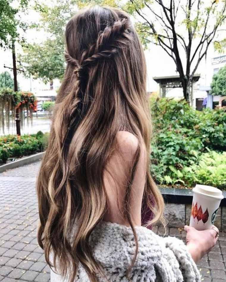 cabello castaña mechas californianas