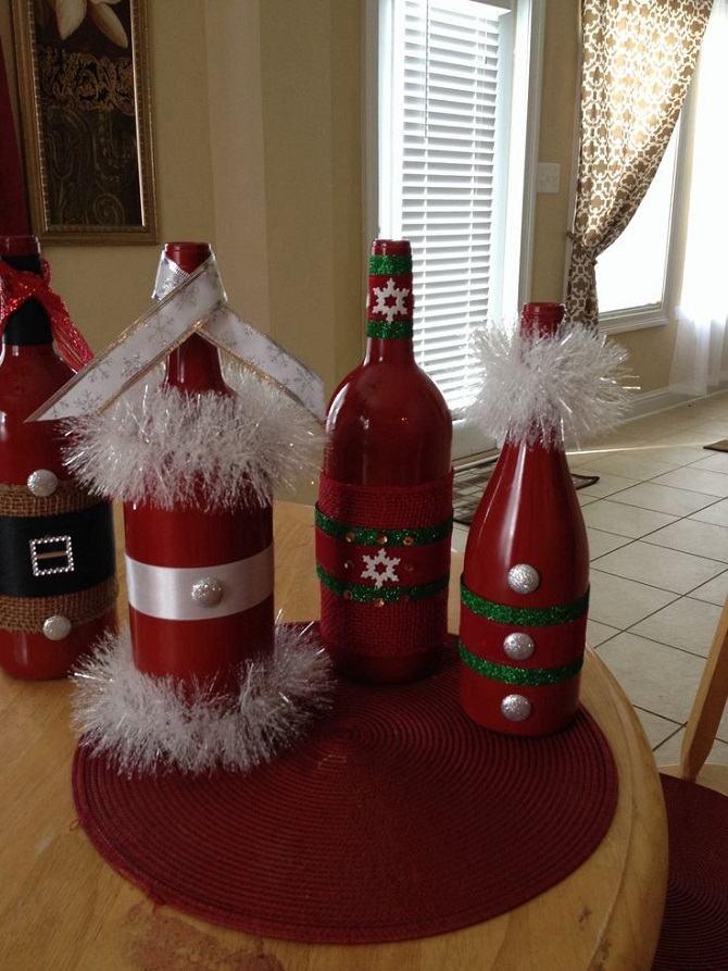Decorar en Navidad – 40 ideas para decorar con botellas recicladas
