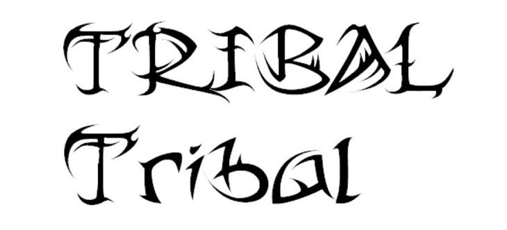 tribal-estilo-letra-concepto