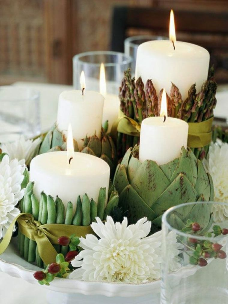 decorar una mesa de comedor