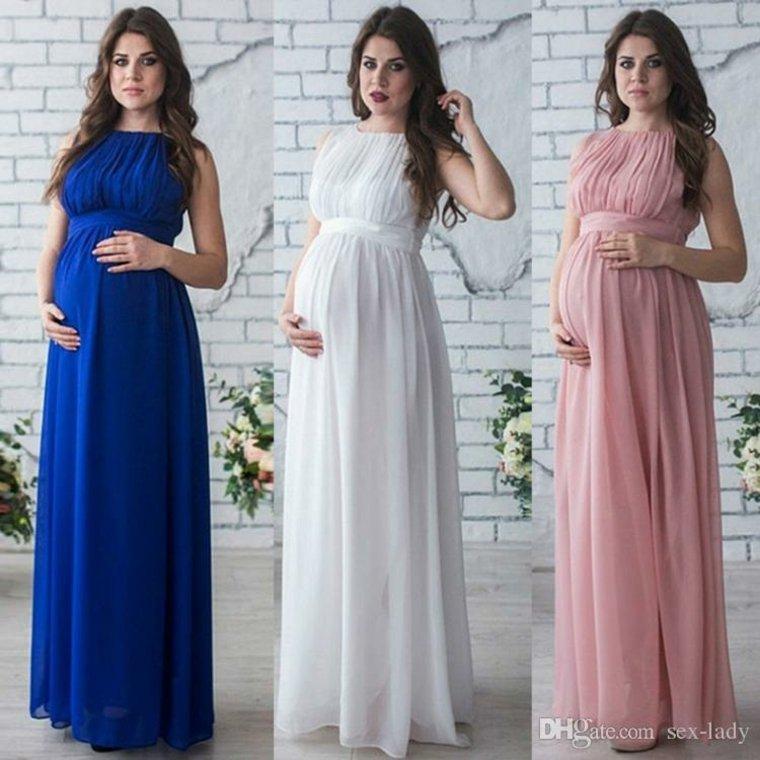 Vestidos para embarazadas de corte maxi