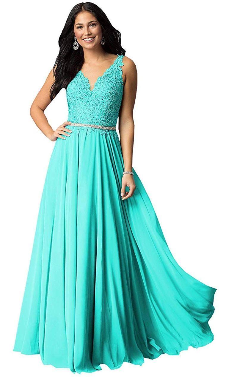 vestidos turquesa