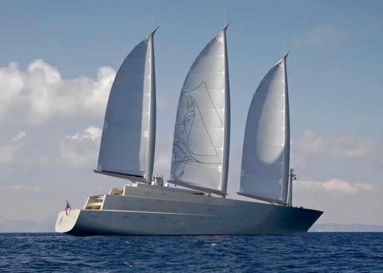 1. Yate de vela A (142.8 metros)