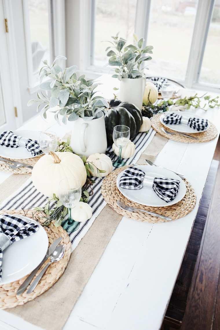 decoracion de mesas acentos negros variantes creativas mesas