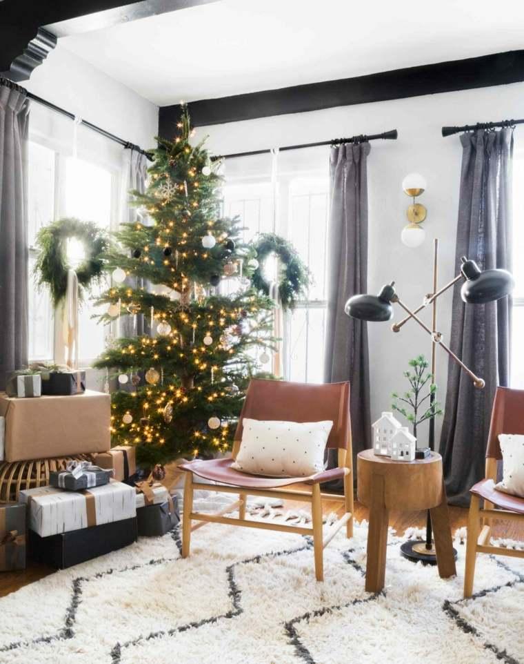 arbol-luces-decorar-casa-navidad