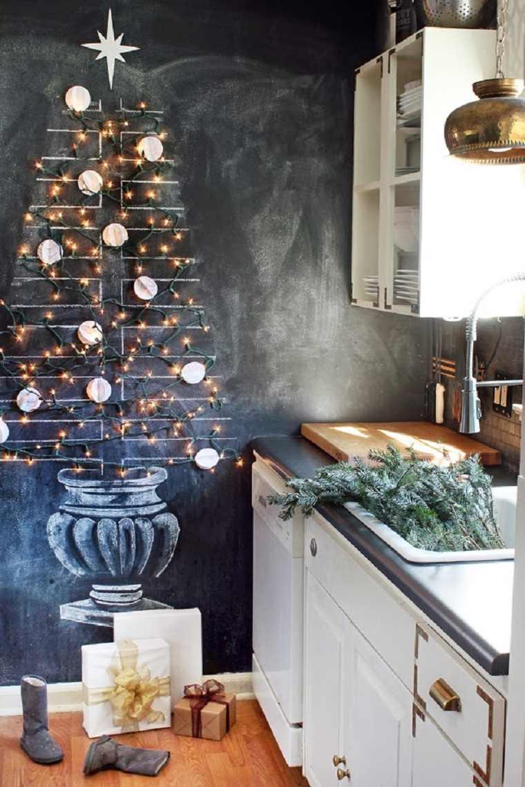 arbol-navideno-reciclado-dibujo-pared