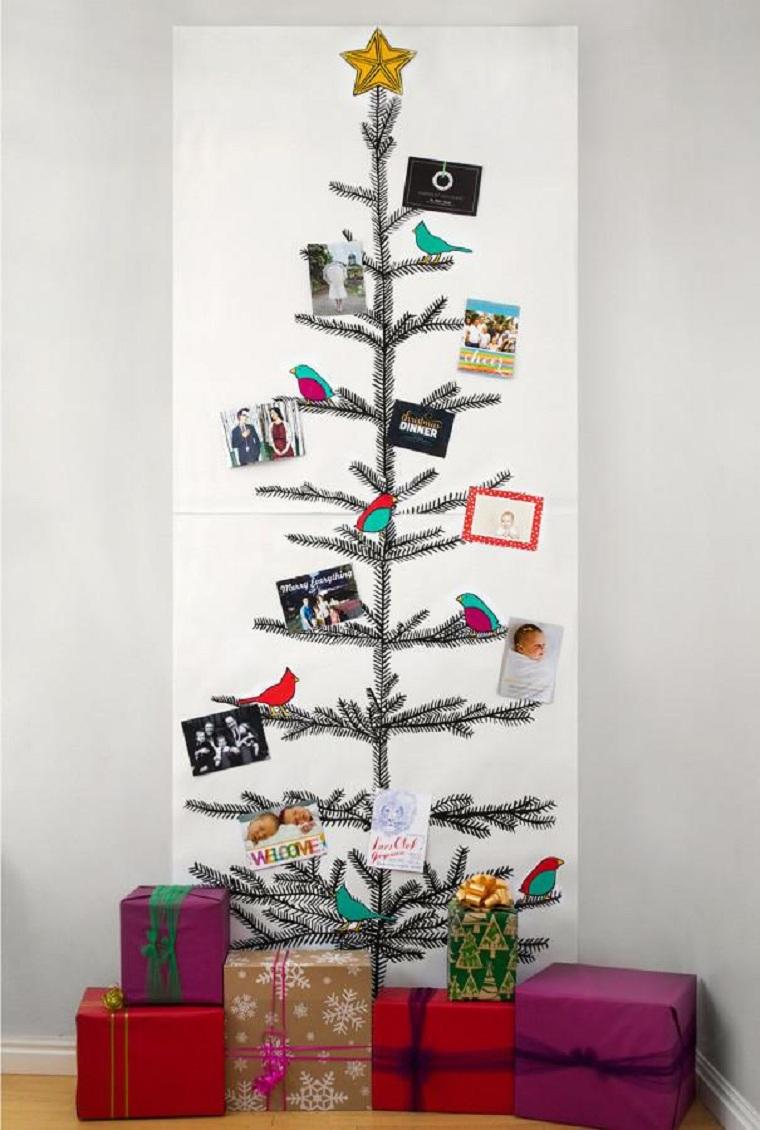 arbol-navideno-reciclado-papel-pared