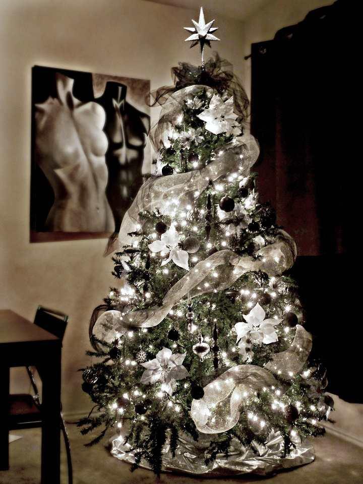 arboles de navidad decorados aspecto moderno