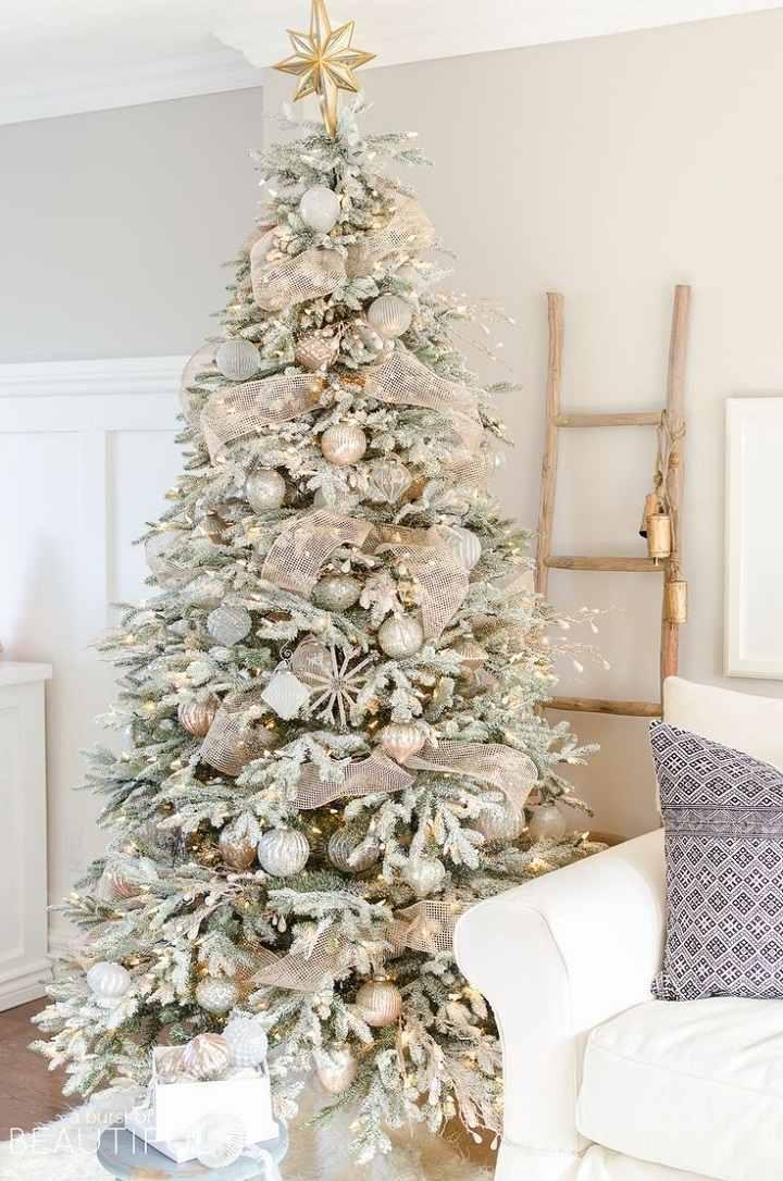 arboles de navidad decorados rustico estilo