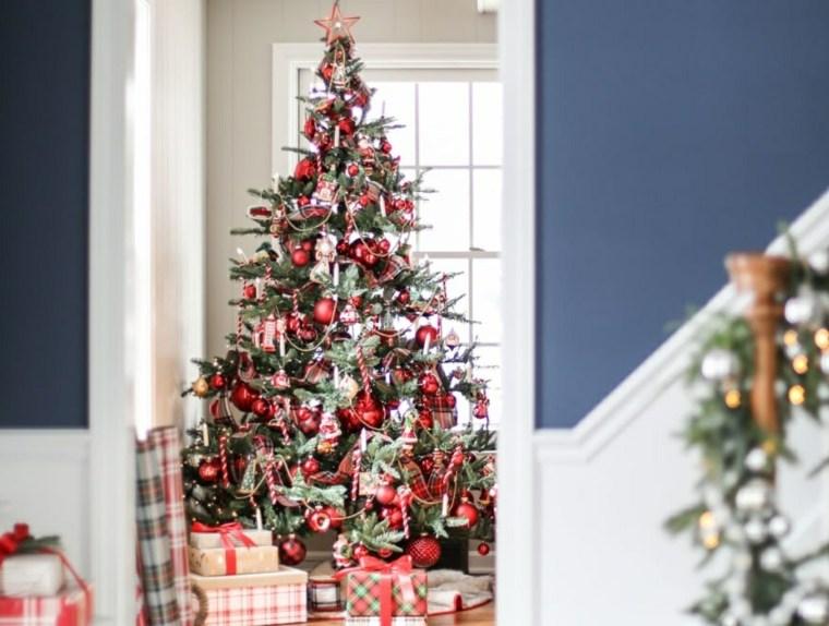 Árboles de navidad modernos-adronos-rojos