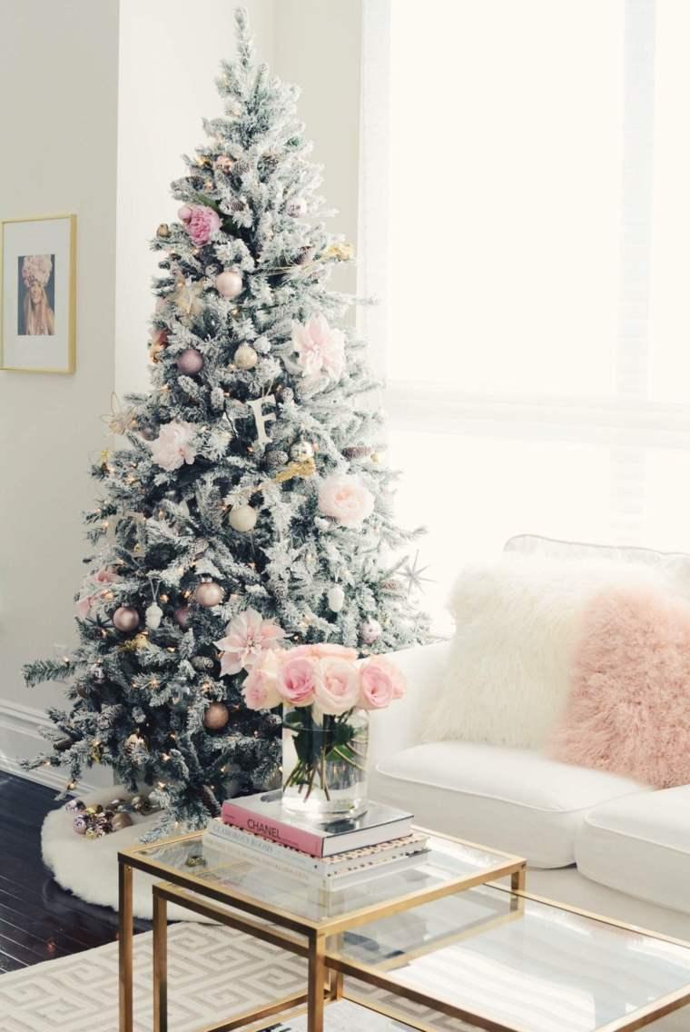 Árboles de navidad modernos arbol-blanco-verde