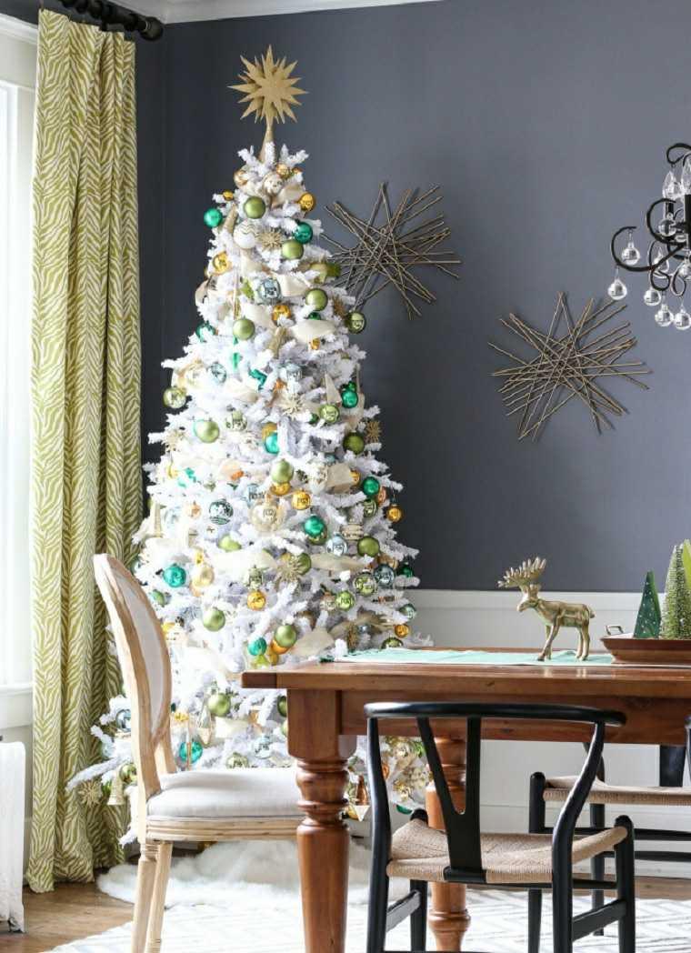 Árboles de navidad modernos-blancos