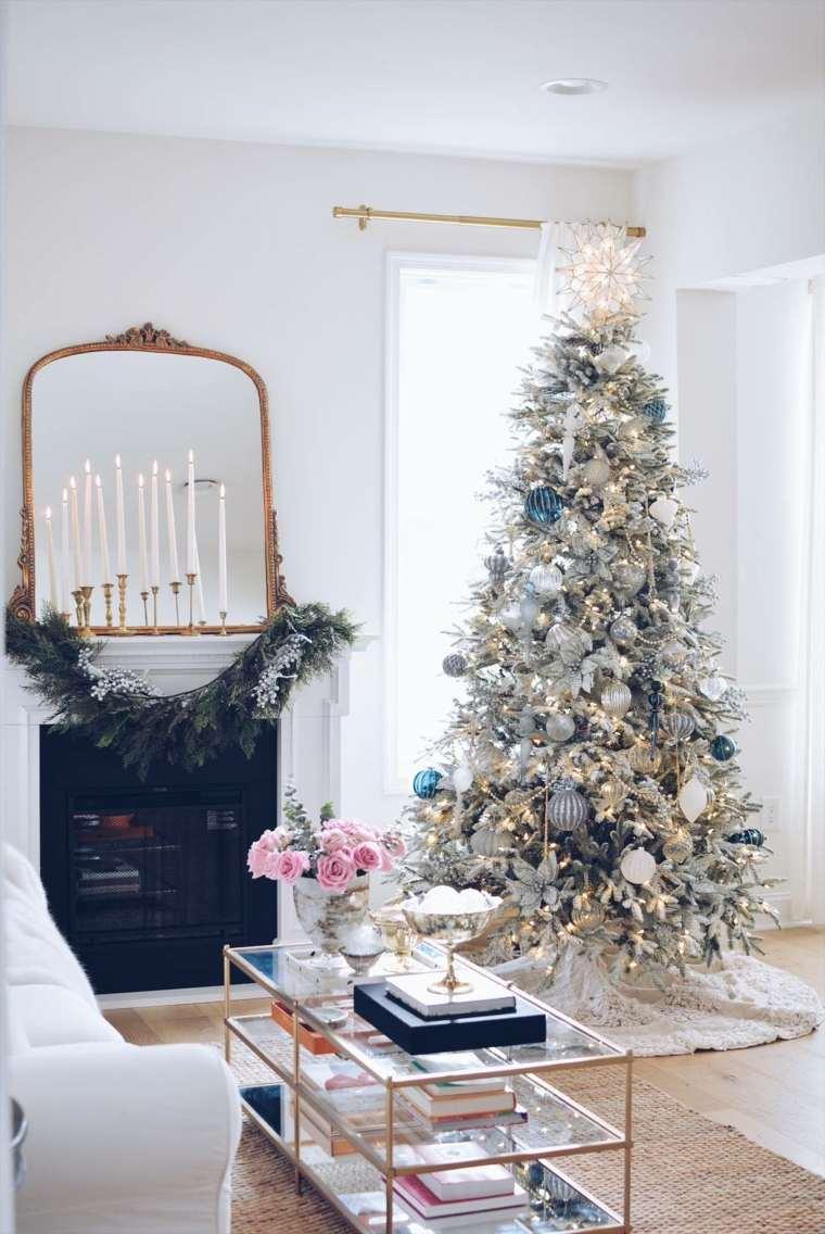 arboles-de-navidad-modernos-dorado-plata-decoracion