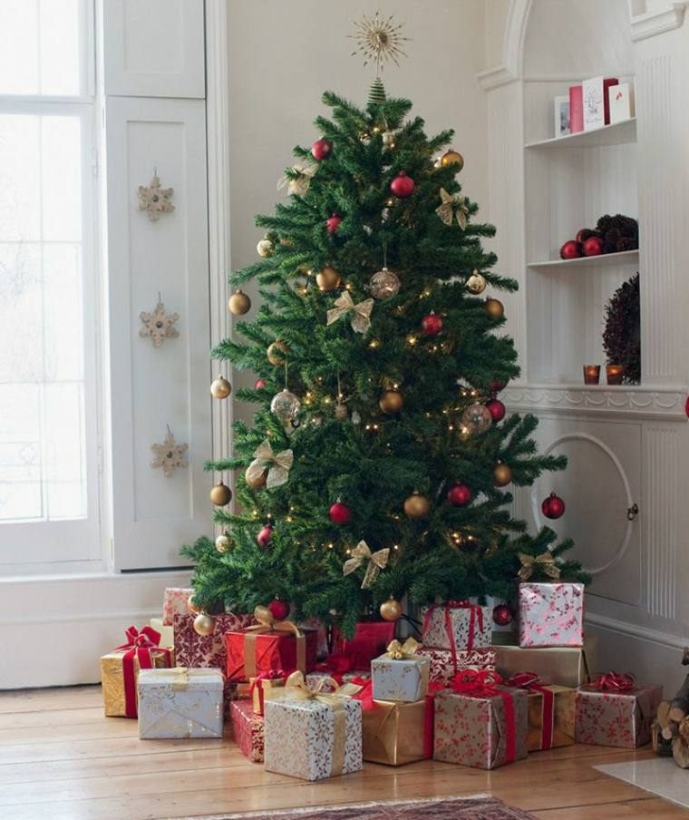 arboles-de-navidad-modernos-dorado-rojo