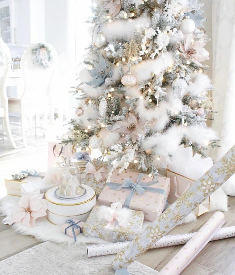 Árboles de navidad modernos-guirnalda-blanca