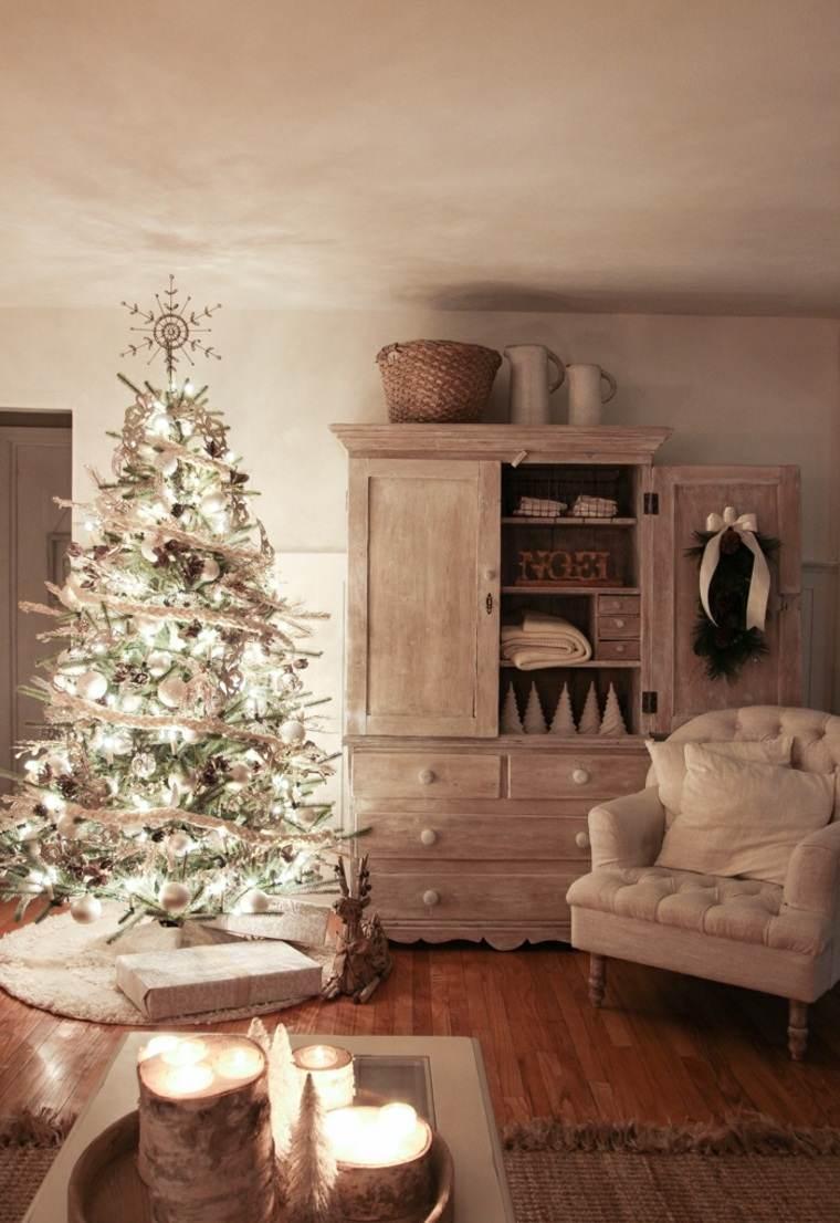 Árboles de navidad modernos-luces-brillantes