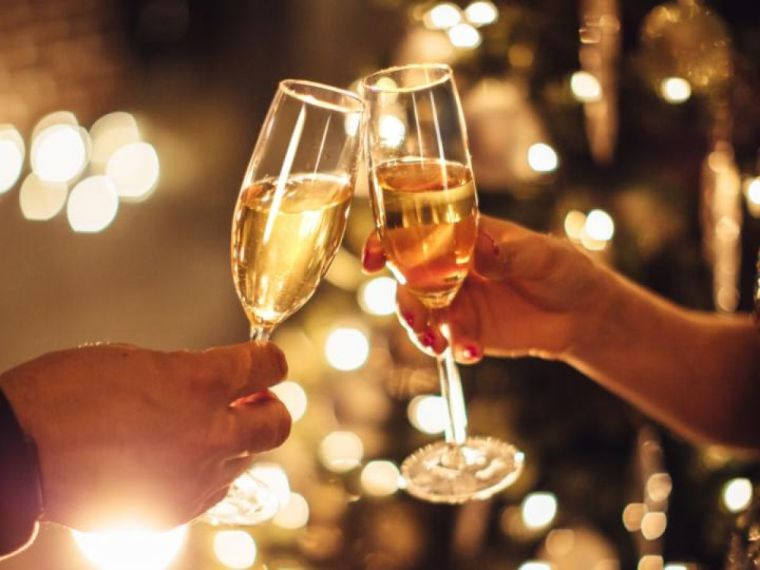 bebeidas navideñas champan