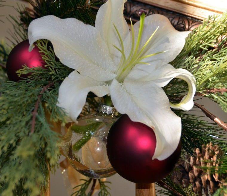 bolas de navidad flores