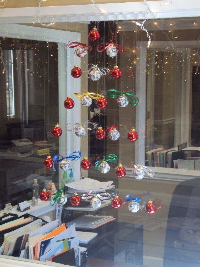 bolas de navidad hilos