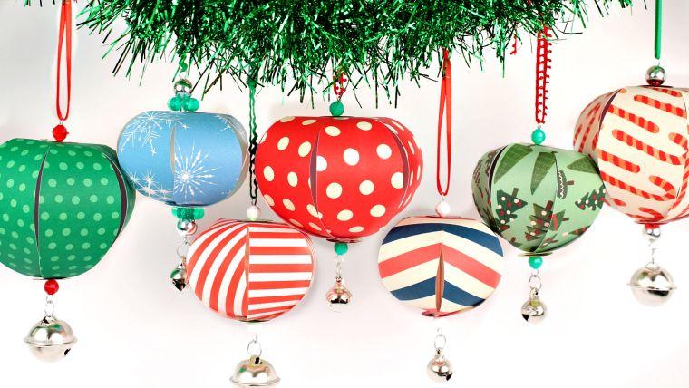 bolas de navidad papel