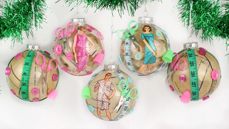 bolas de navidad pastel