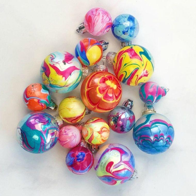 bolas de navidad pintura