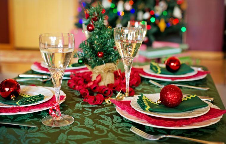 bolas de navidad platos