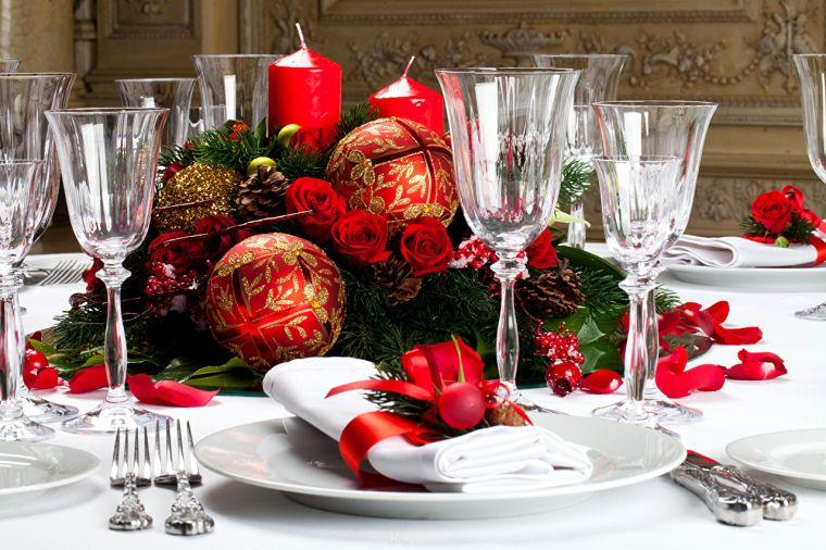 bolas de navidad servilleta