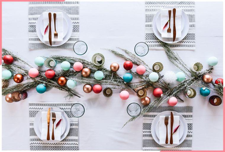 bolas de navidad vistosa